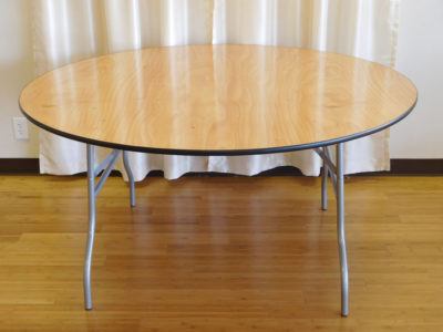 60 inch round banquet table for rent