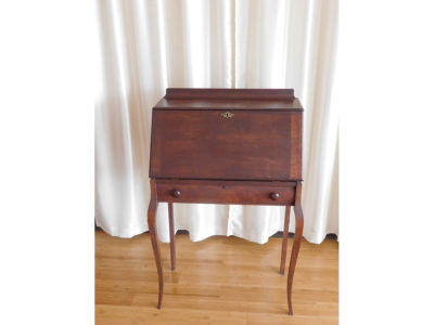 Antique writing desk pictured closed