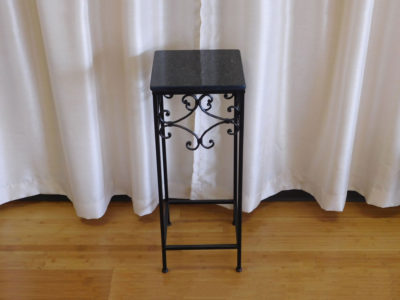 black marble end table for rent