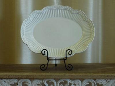 Ivory Serving Platter for wedding catering rental