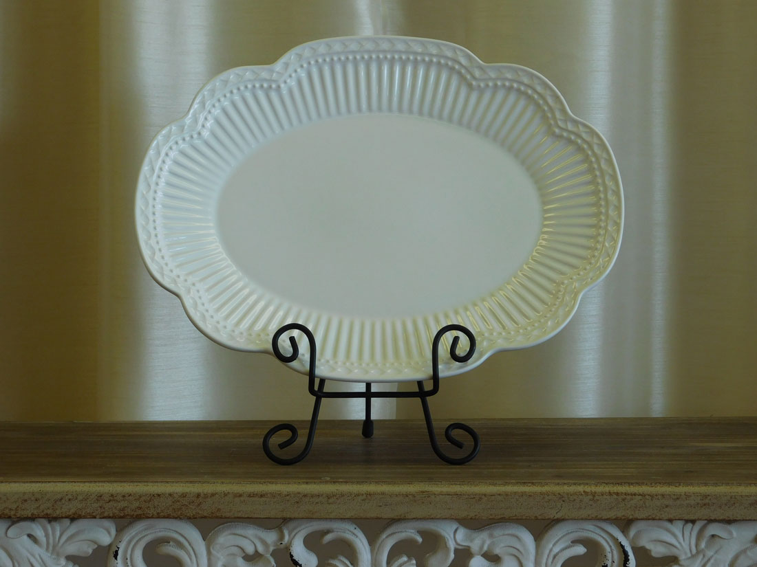 Ivory Serving Platter for wedding catering rental