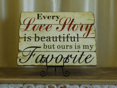 Rustic Love Story Wall Decor