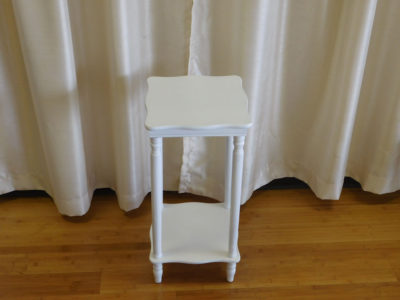 White Square End Table for rent