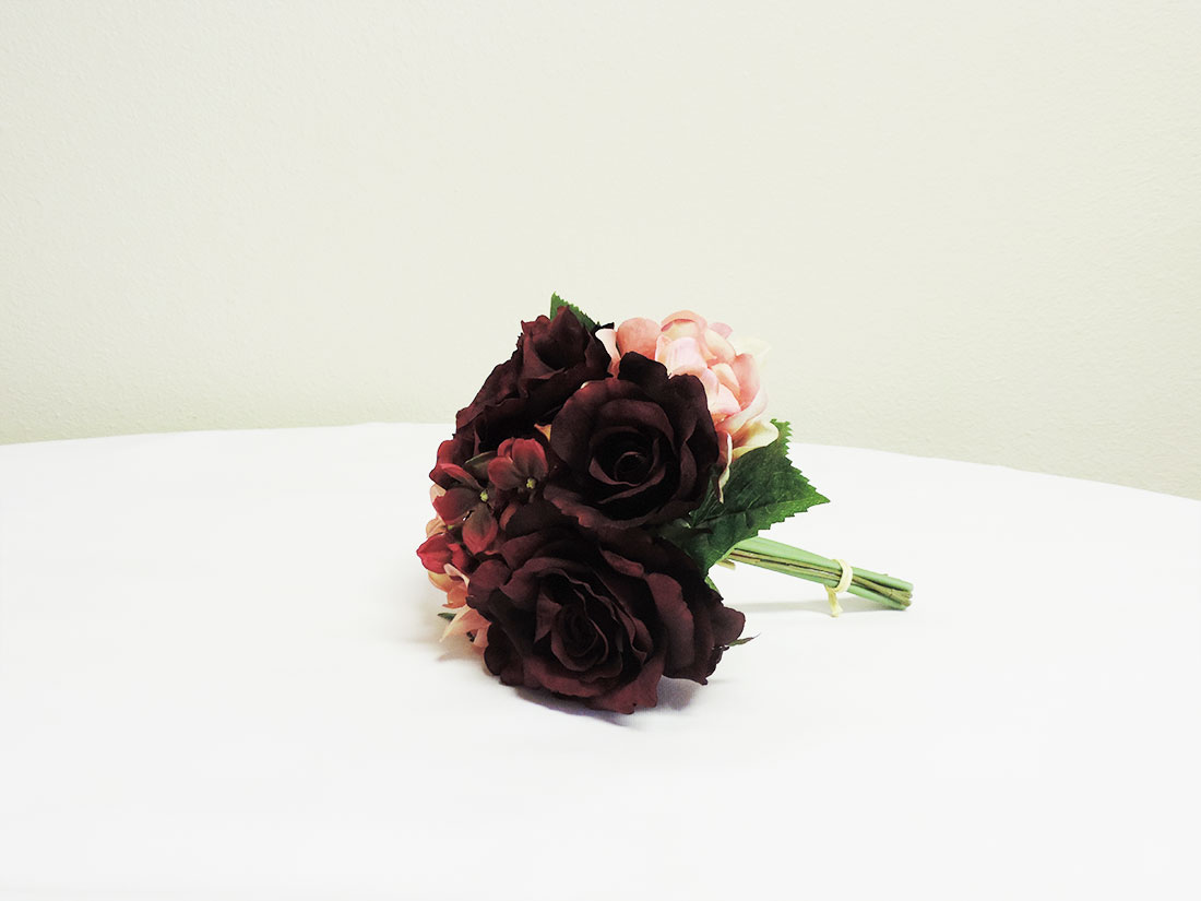 Artificial burgundy flower bouquet celebrations event rentals and view larger image mightylinksfo